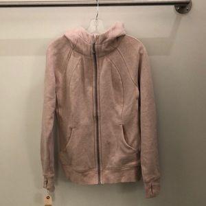 Lululemon heathered pink scuba hoodie sz 12 82518